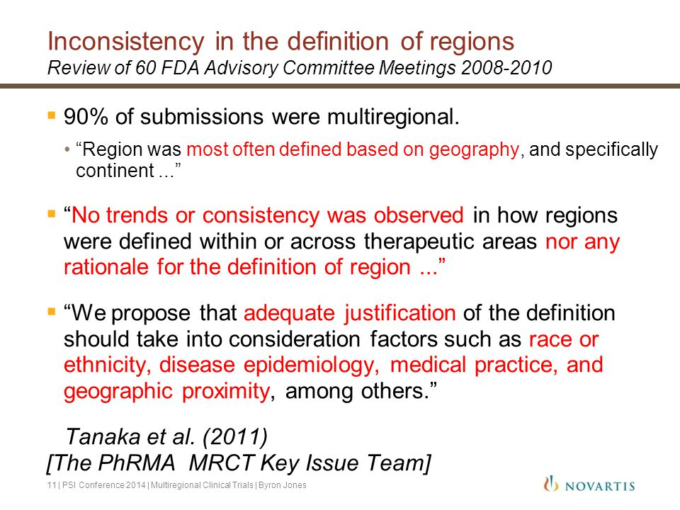 Inconsistency in the definition of regions