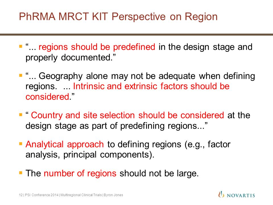 PhRMA MRCT KIT Perspective on Region