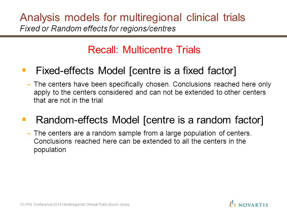 Analysis models for multiregional clinical trials