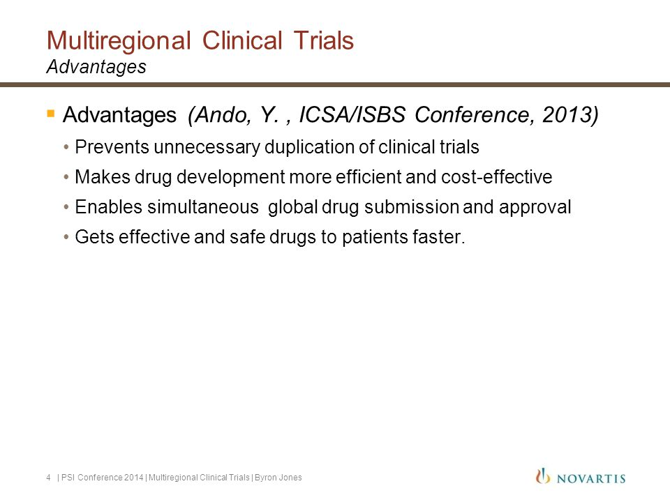Multiregional Clinical Trials