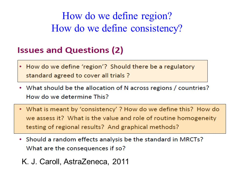 How do we define region How do we define consistency