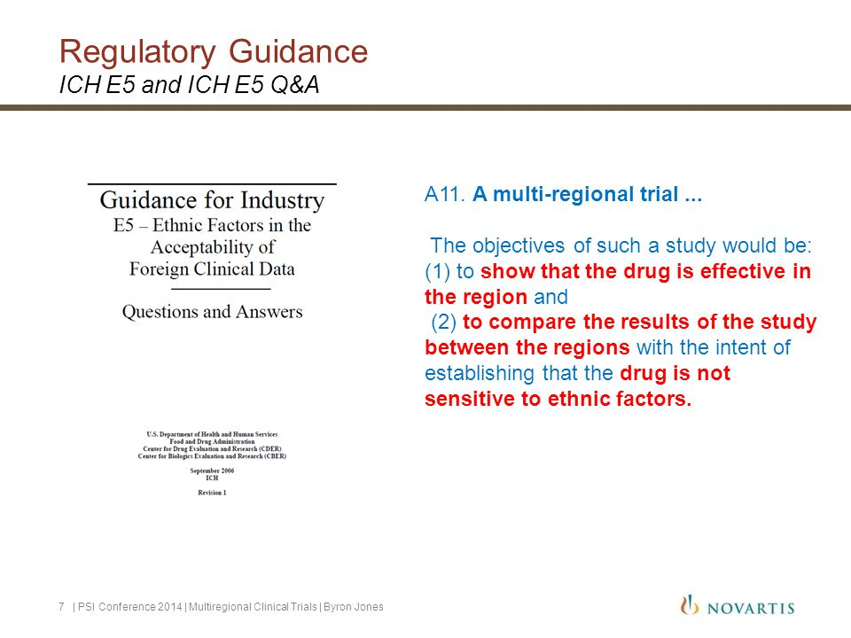 Regulatory Guidance ICH E5 and ICH E5 Q&A