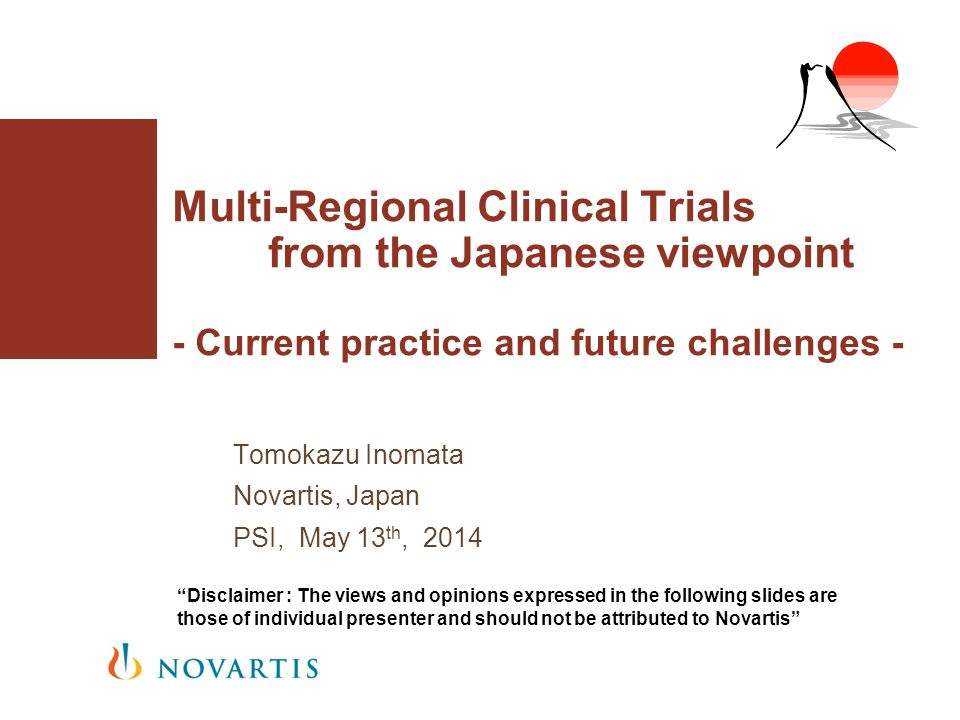 Tomokazu Inomata Novartis, Japan PSI, May 13th, 2014