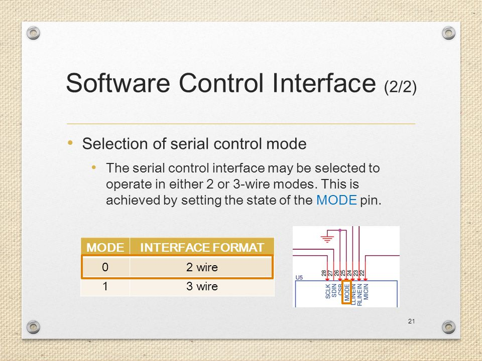 Software Control Interface (2/2)