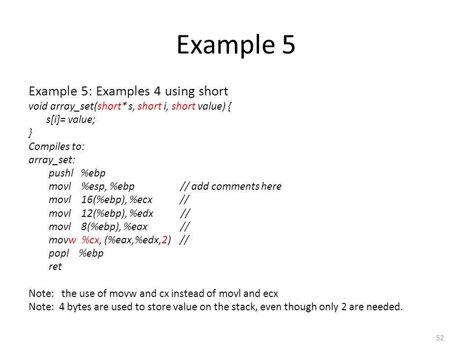 Example 5 Example 5: Examples 4 using short