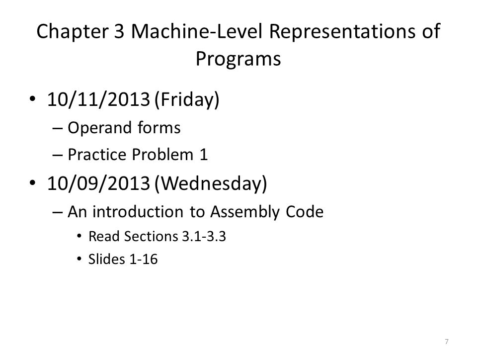 Chapter 3 Machine-Level Representations of Programs