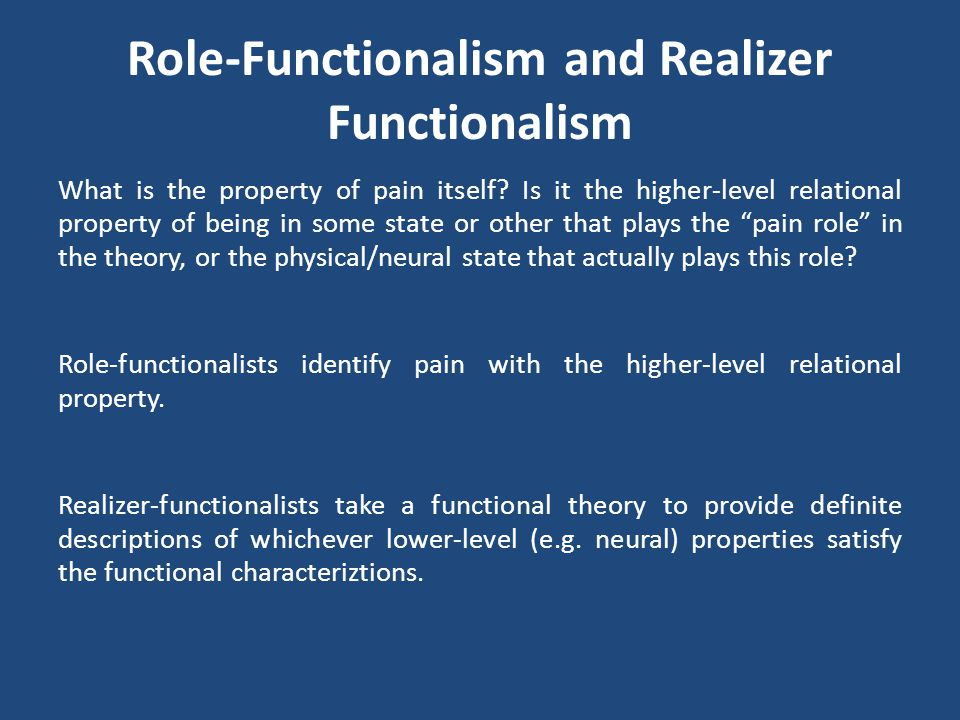 Role-Functionalism and Realizer Functionalism