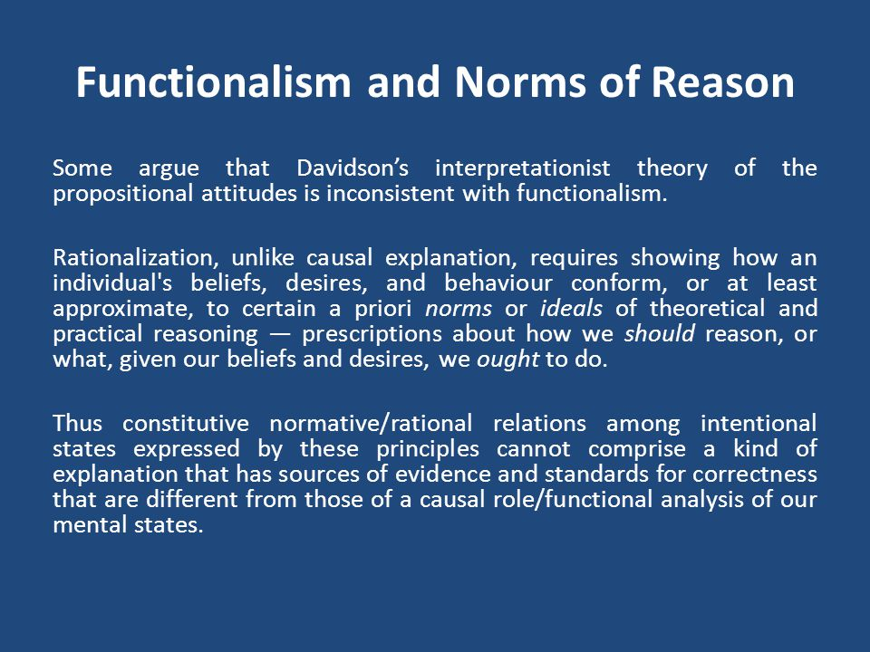 Functionalism and Norms of Reason