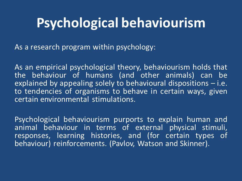 Psychological behaviourism