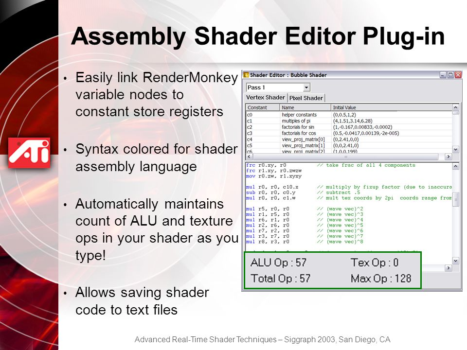Assembly Shader Editor Plug-in