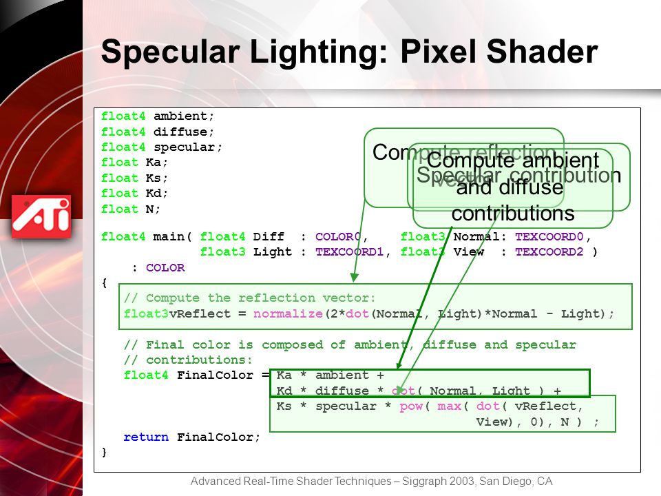 Specular Lighting: Pixel Shader