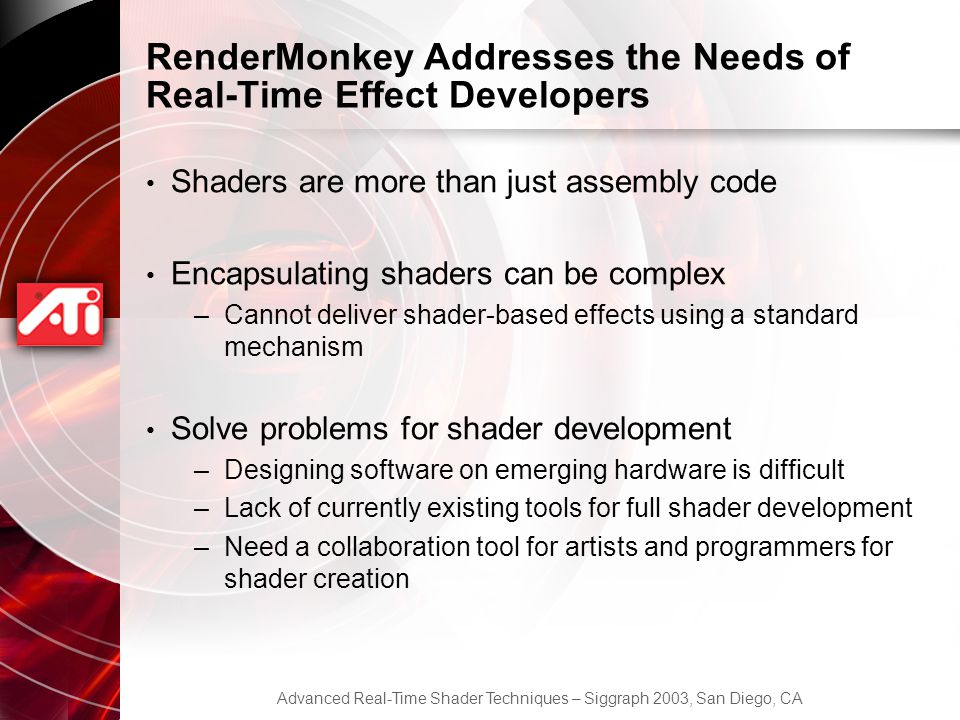 RenderMonkey Addresses the Needs of Real-Time Effect Developers