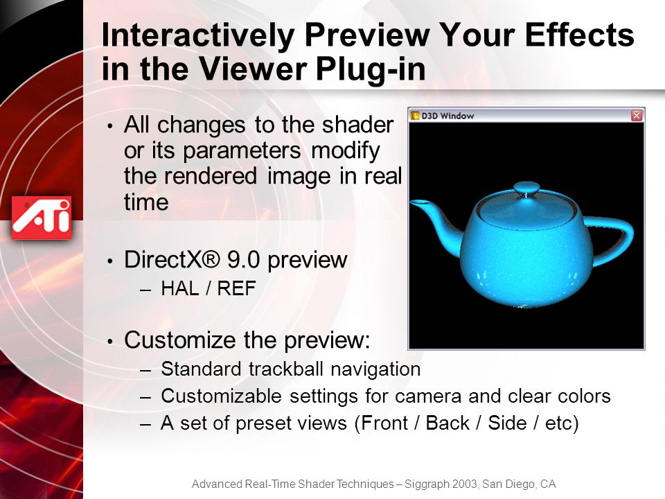 Interactively Preview Your Effects in the Viewer Plug-in
