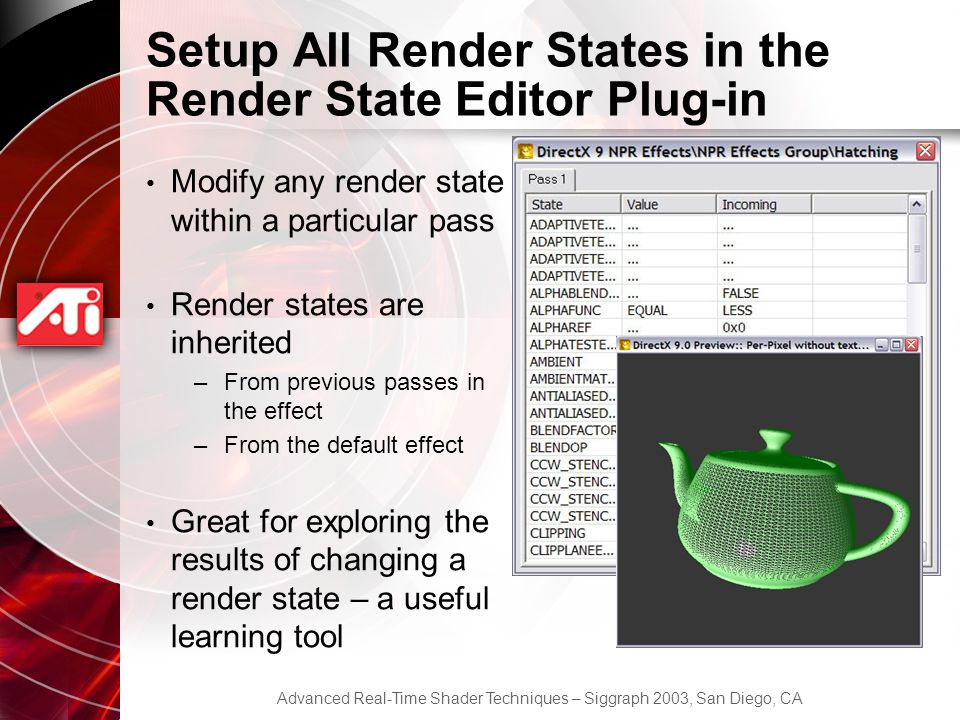 Setup All Render States in the Render State Editor Plug-in
