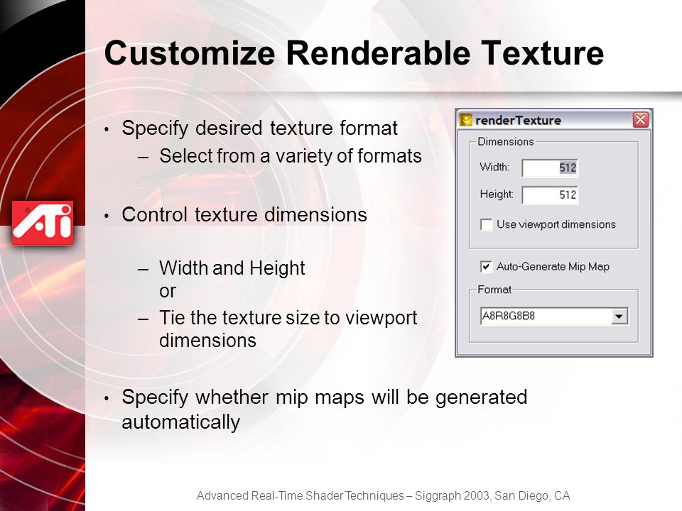 Customize Renderable Texture