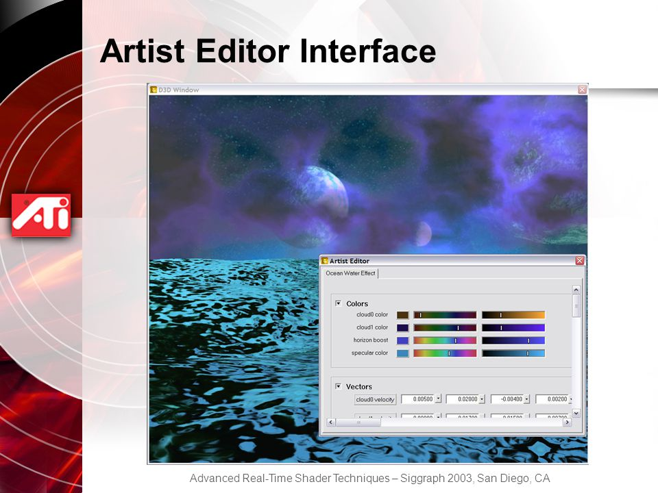 Artist Editor Interface