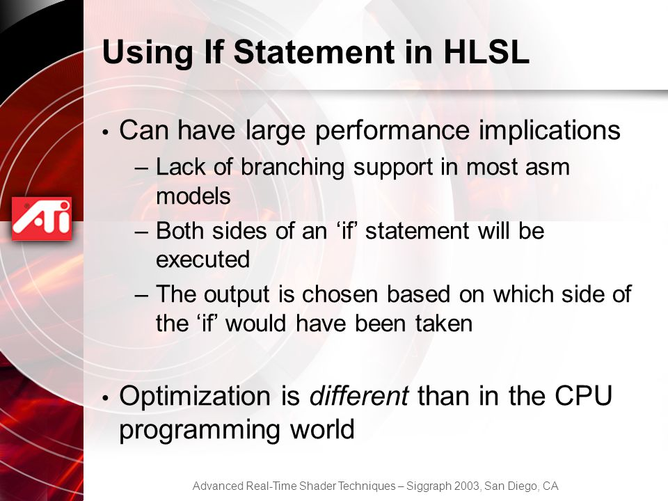 Using If Statement in HLSL