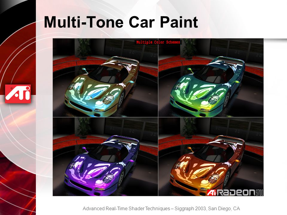 Multi-Tone Car Paint
