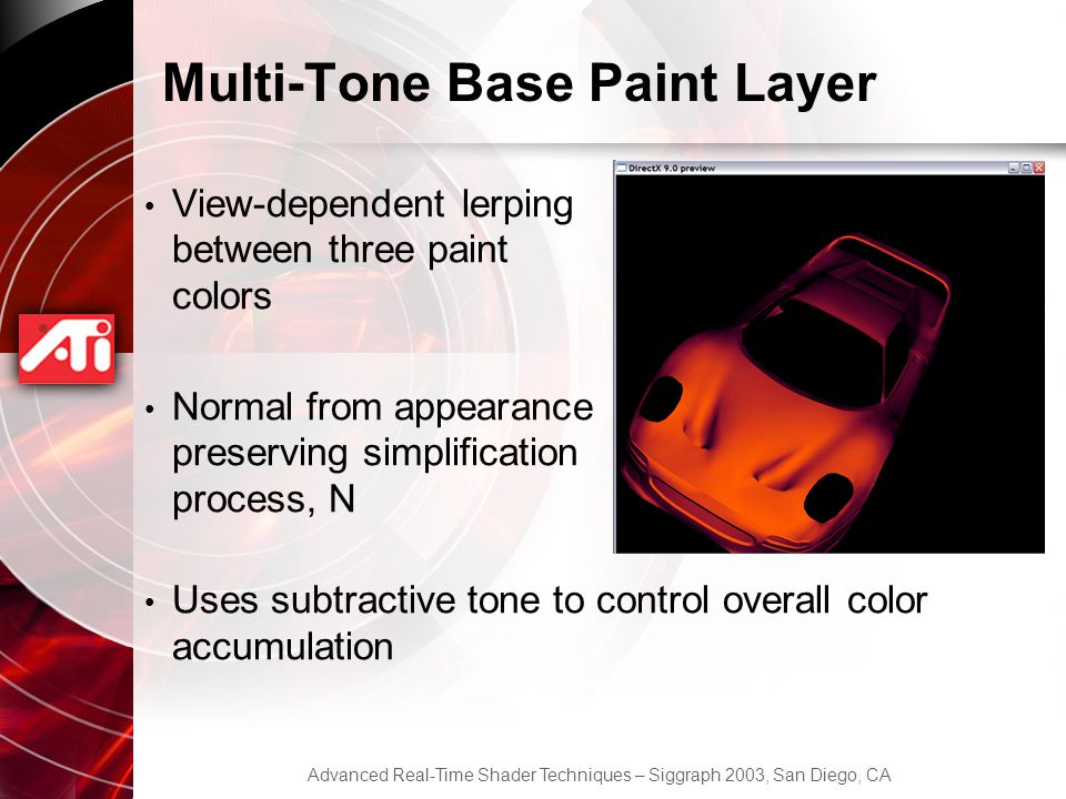 Multi-Tone Base Paint Layer