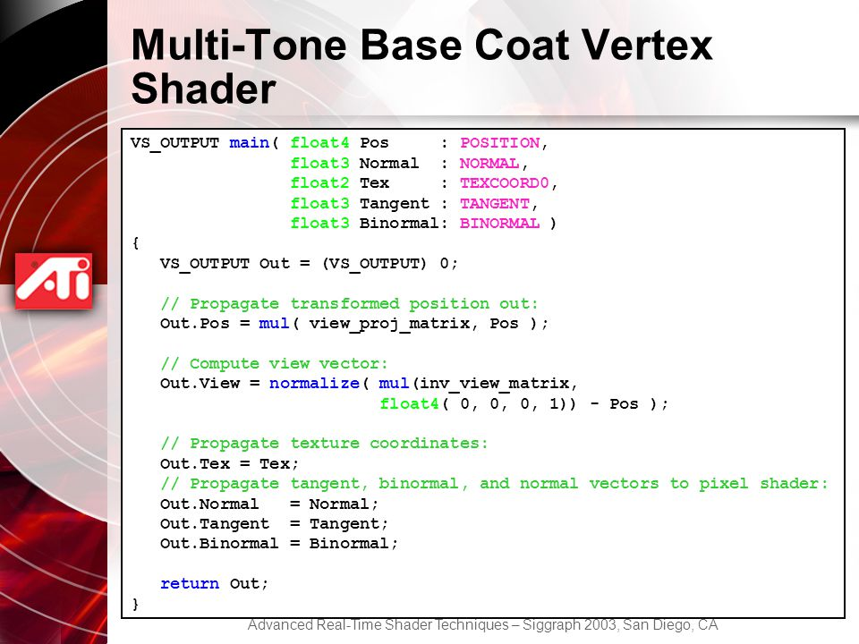 Multi-Tone Base Coat Vertex Shader