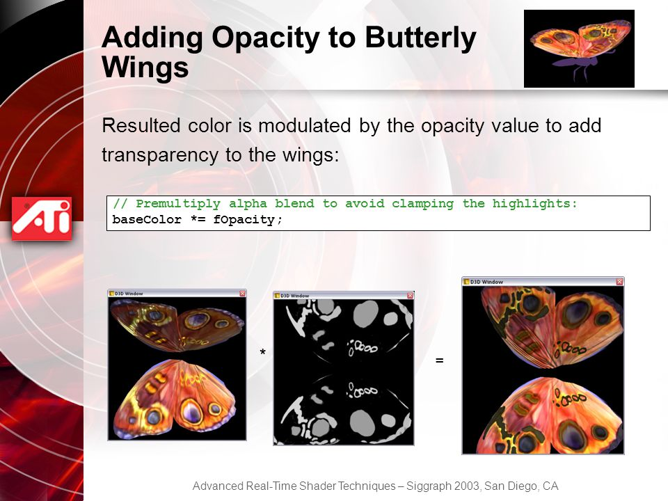 Adding Opacity to Butterly Wings