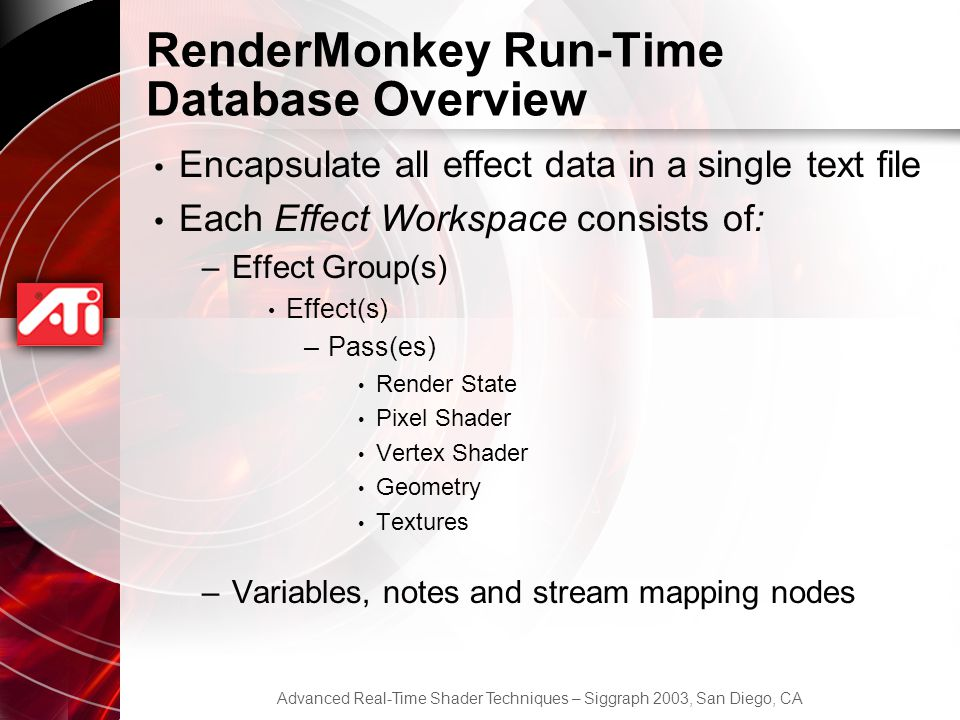 RenderMonkey Run-Time Database Overview