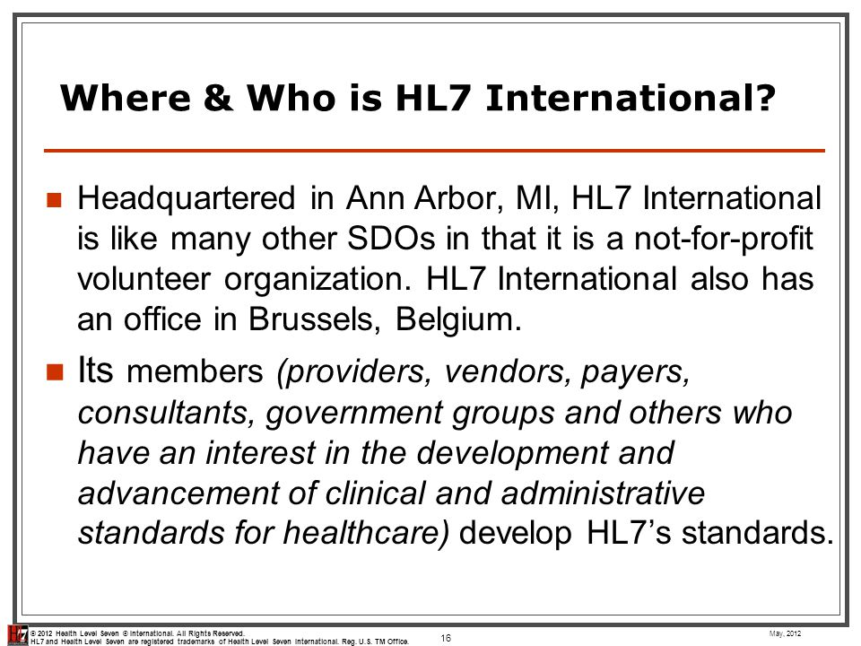 Where & Who is HL7 International