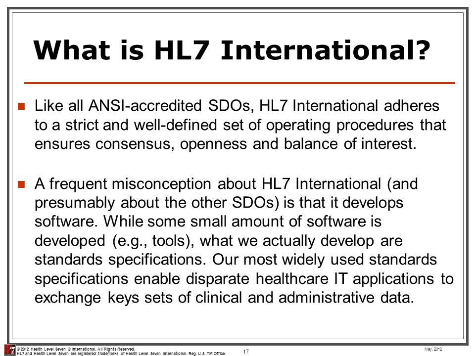 What is HL7 International