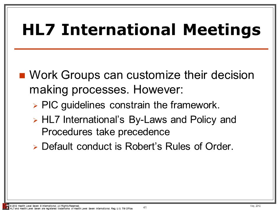 HL7 International Meetings