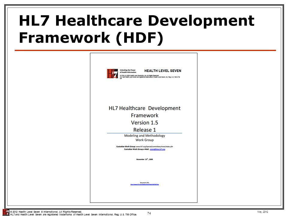 HL7 Healthcare Development Framework (HDF)