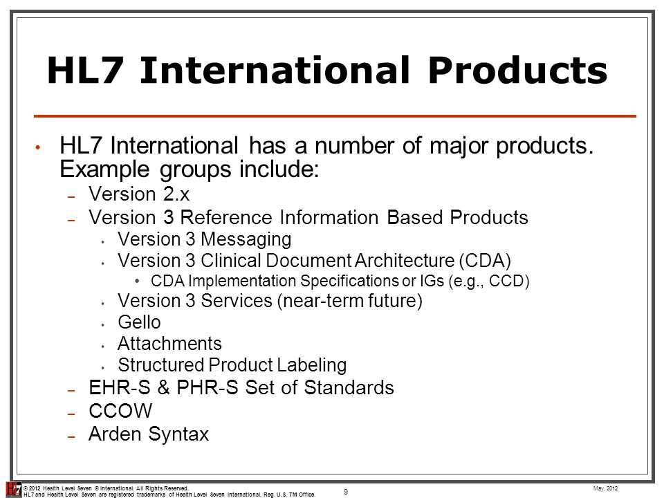 HL7 International Products