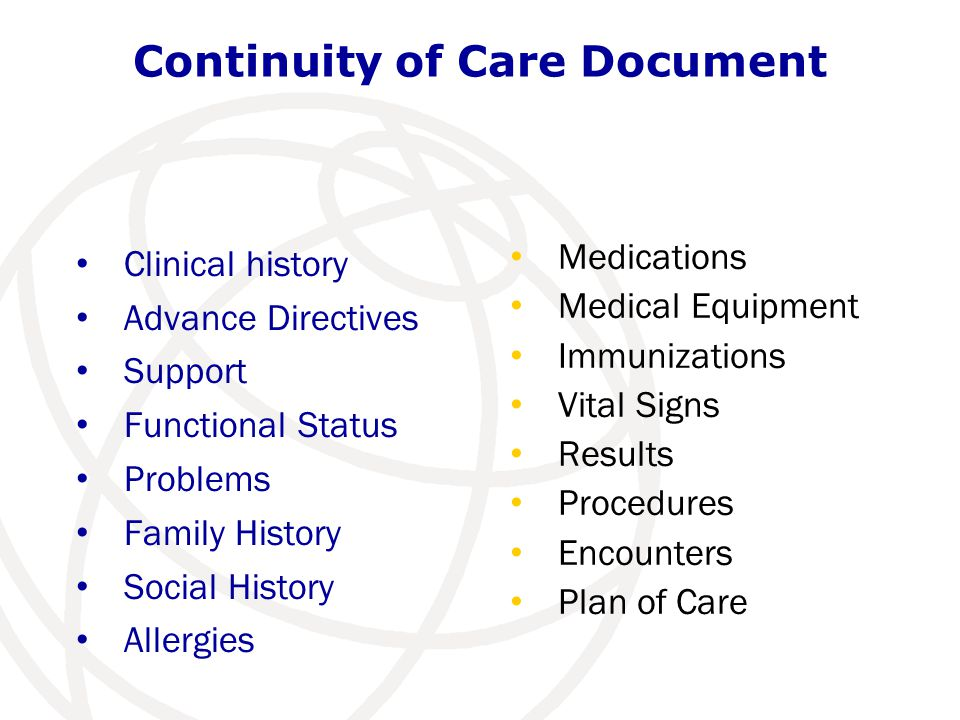 Continuity of Care Document