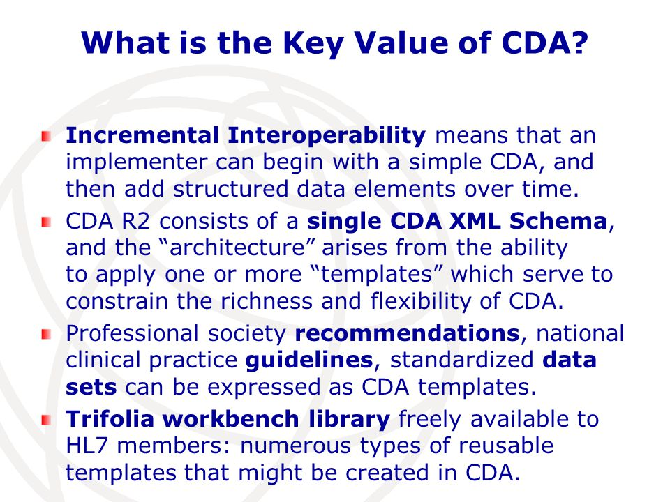 What is the Key Value of CDA