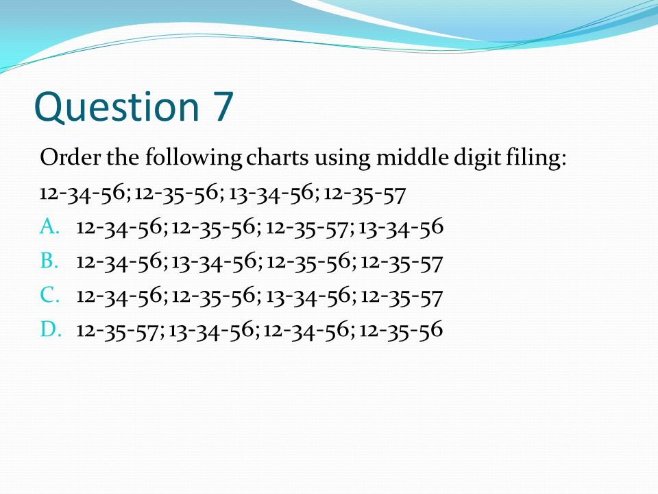 terminal digit filing order example