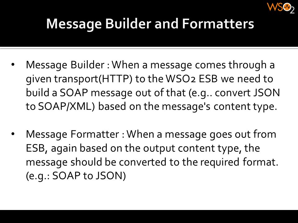Message Builder and Formatters