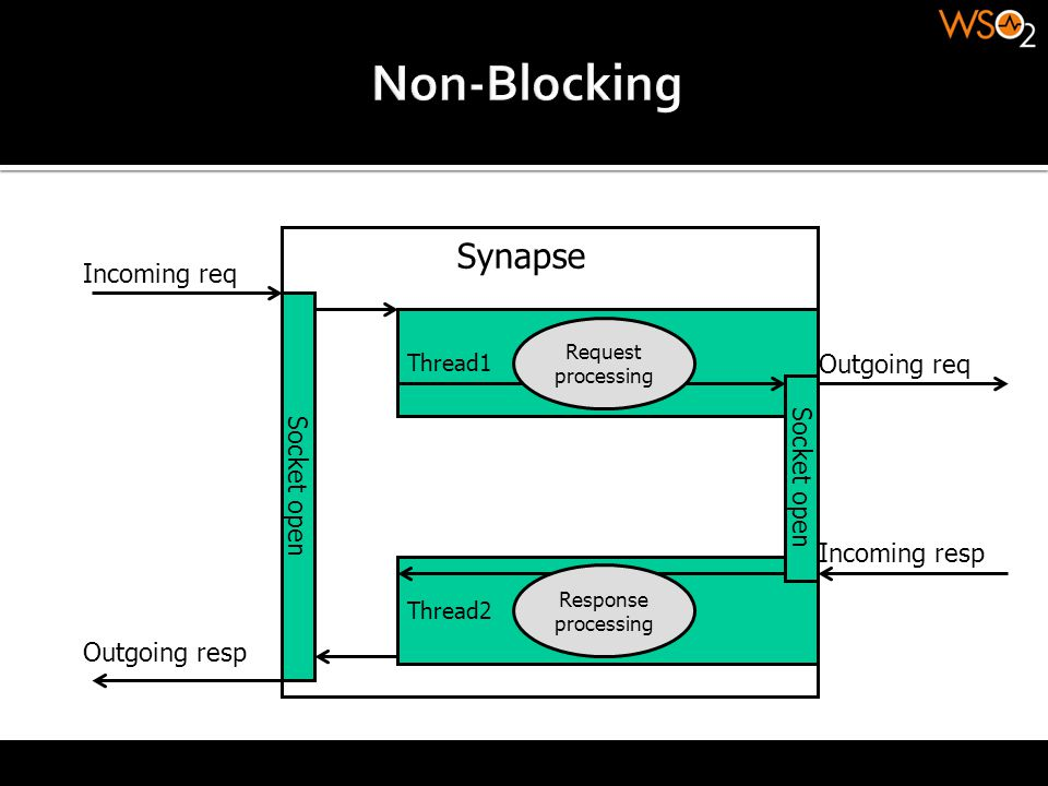 Non-Blocking Synapse Incoming req Outgoing req Socket open