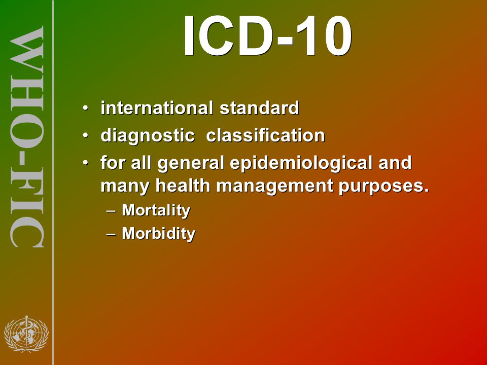 ICD-10 international standard diagnostic classification