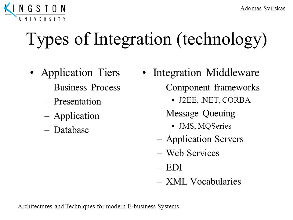 Types of Integration (technology)