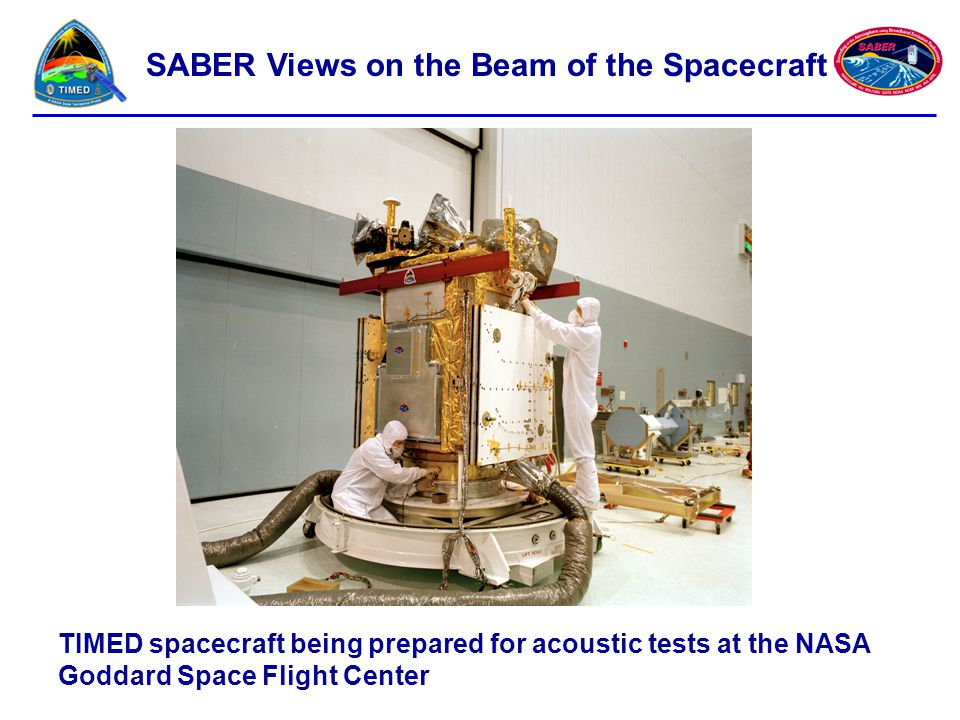 SABER Views on the Beam of the Spacecraft