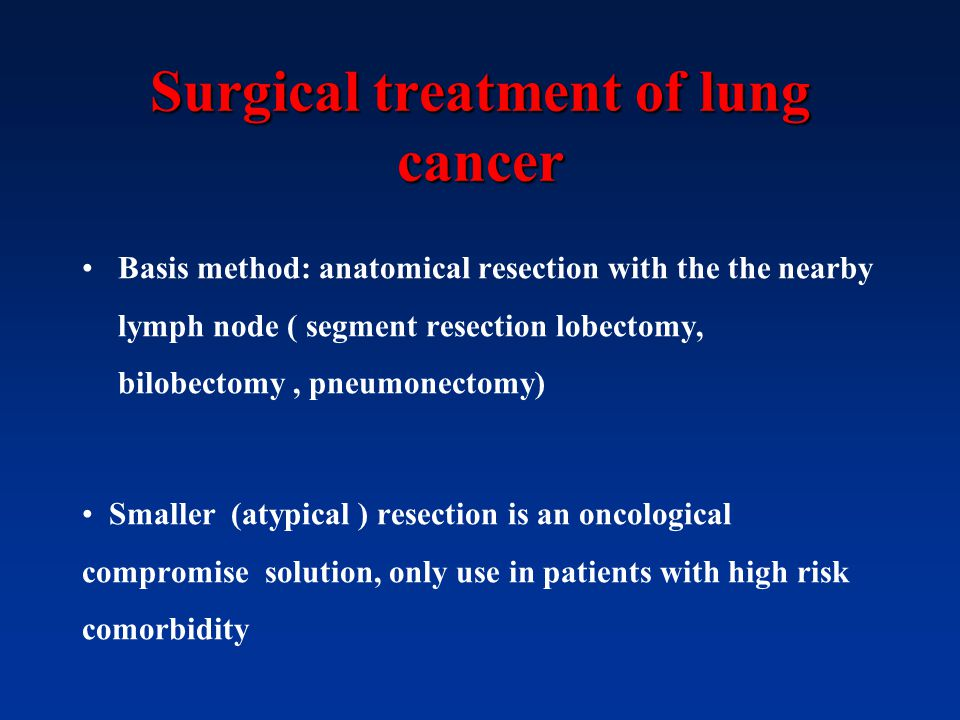 Surgical treatment of lung cancer
