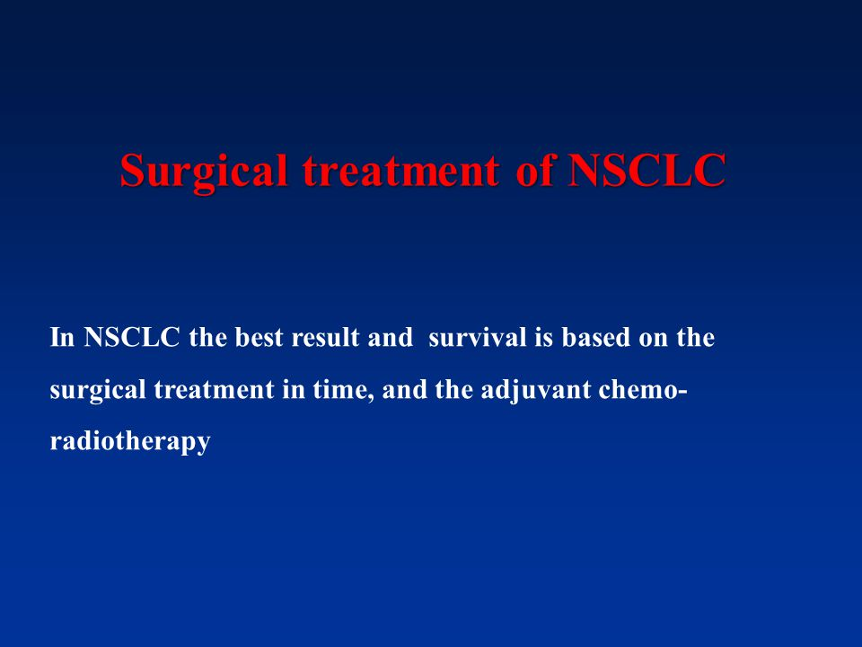 Surgical treatment of NSCLC