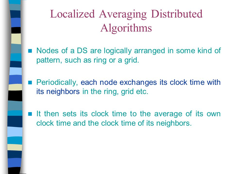Localized Averaging Distributed Algorithms