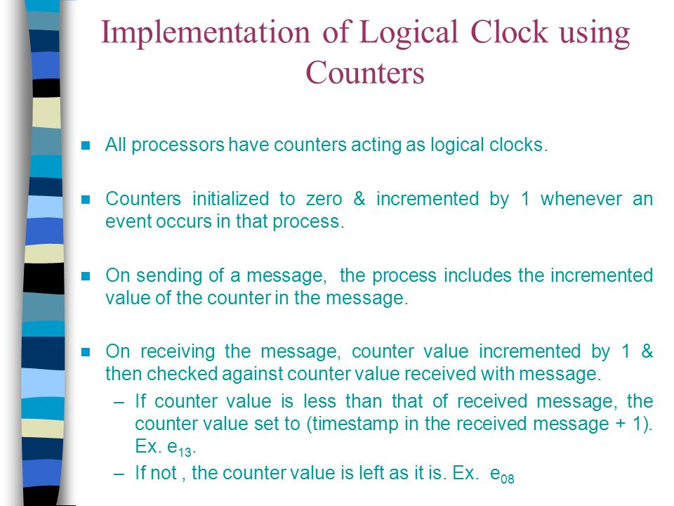 Implementation of Logical Clock using Counters
