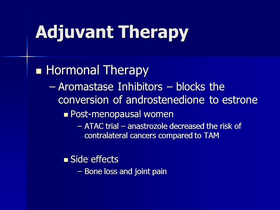 Adjuvant Therapy Hormonal Therapy