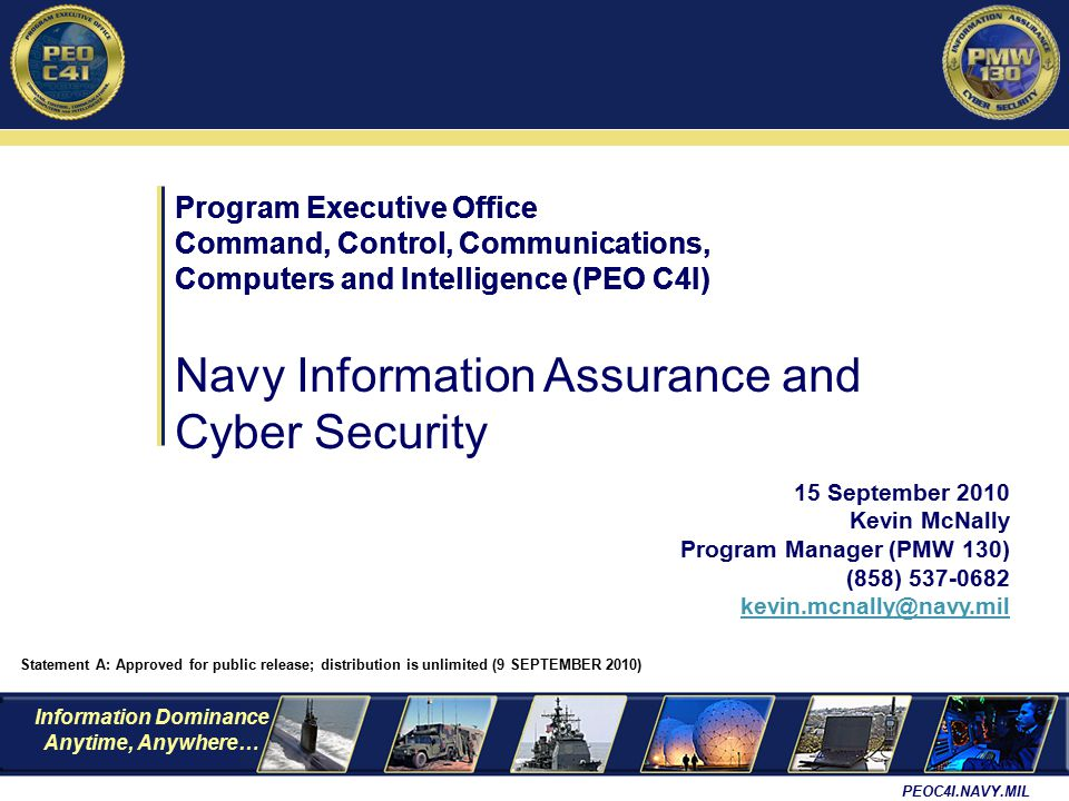 Navy Information Assurance and Cyber Security