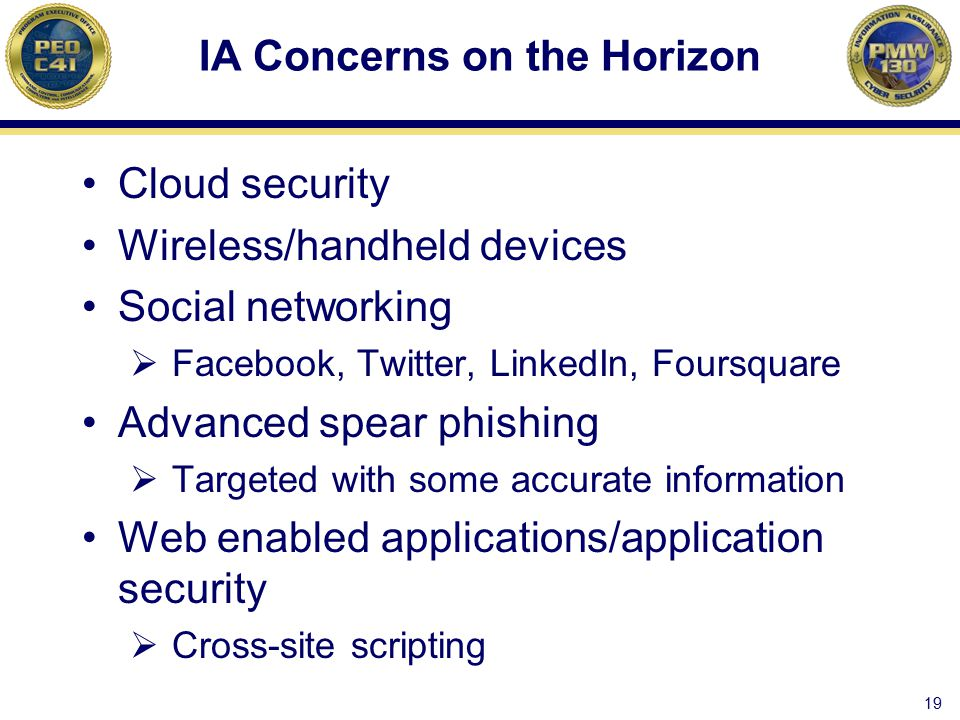 IA Concerns on the Horizon