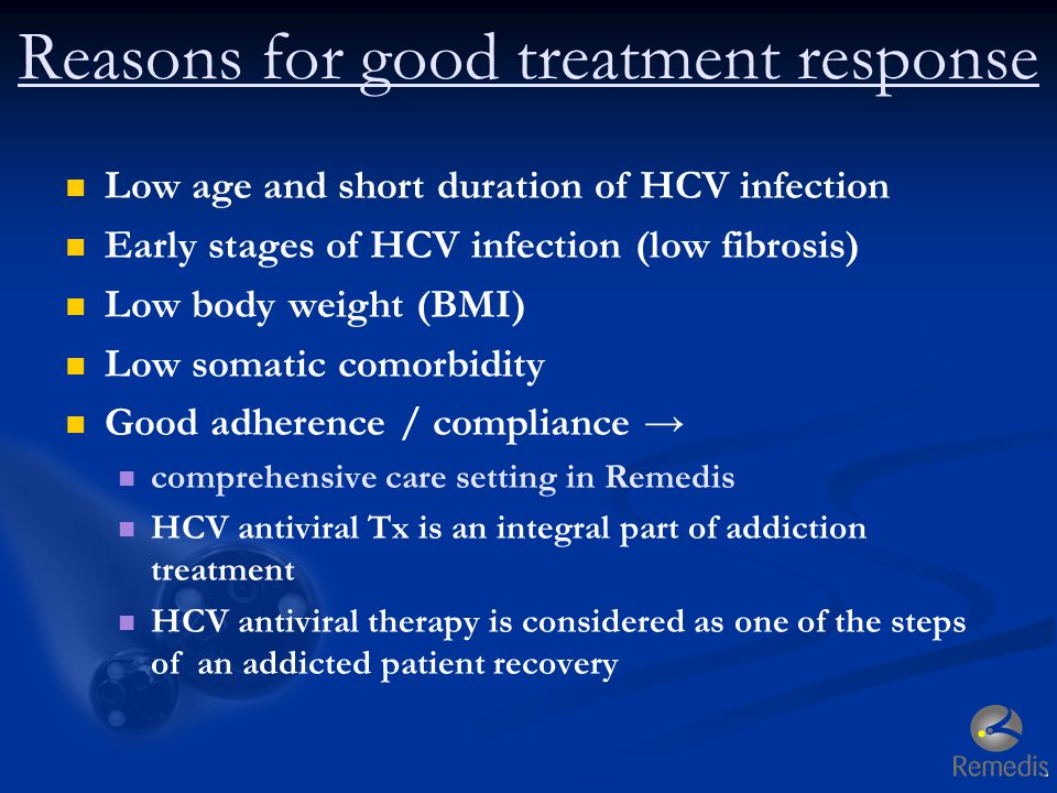 Reasons for good treatment response
