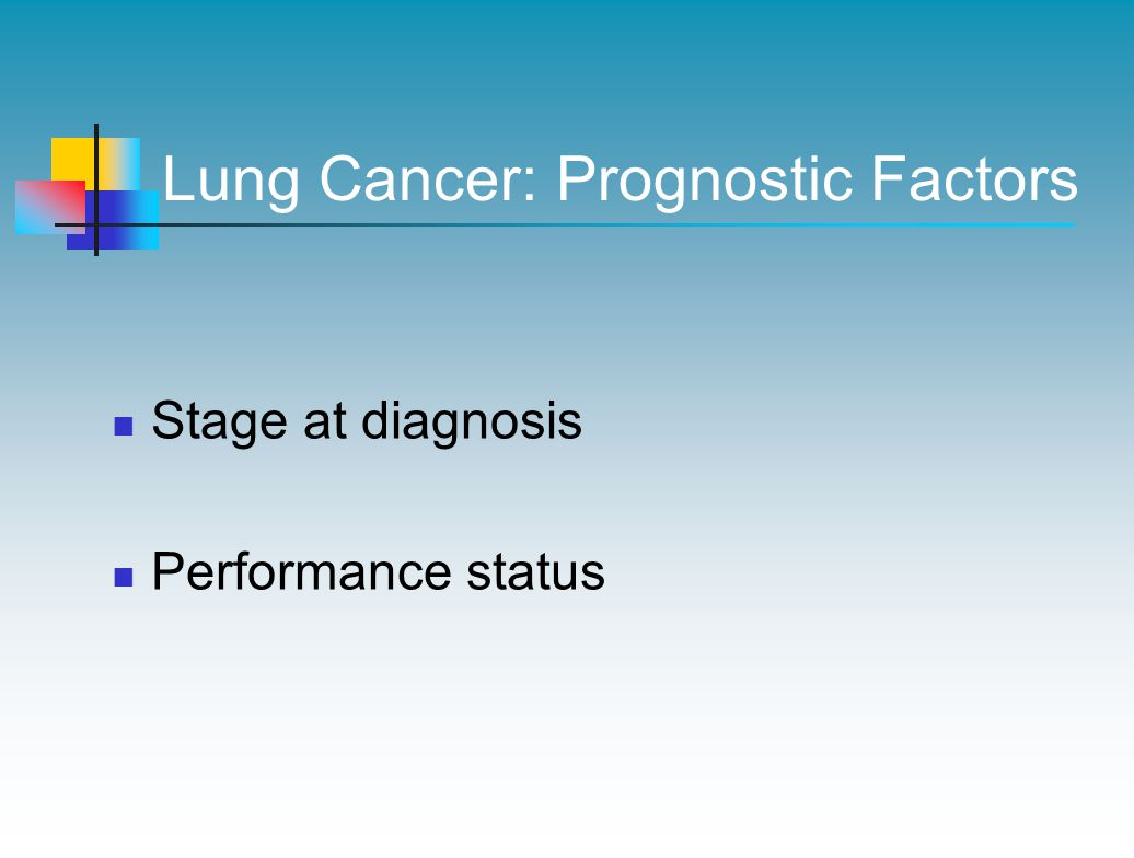 Lung Cancer: Prognostic Factors