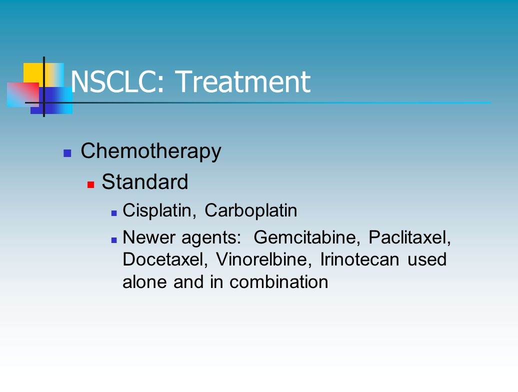 NSCLC: Treatment Chemotherapy Standard Cisplatin, Carboplatin
