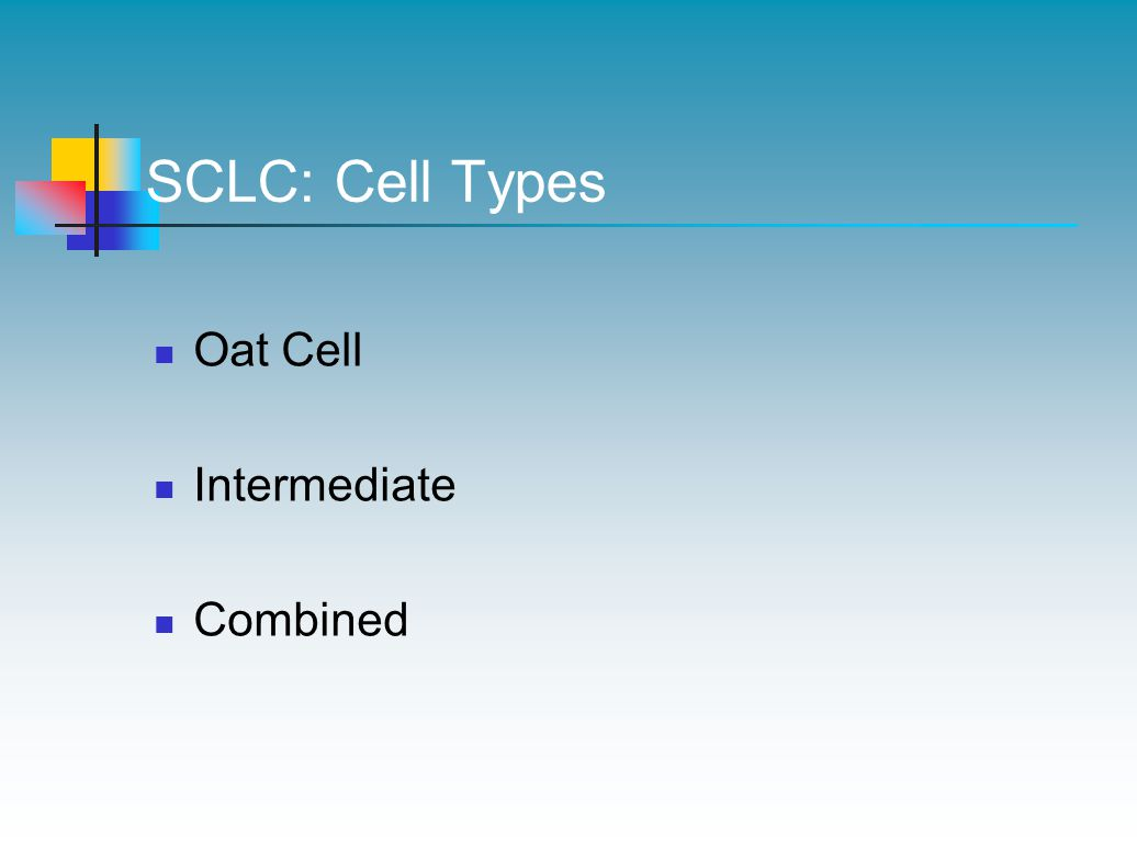 SCLC: Cell Types Oat Cell Intermediate Combined
